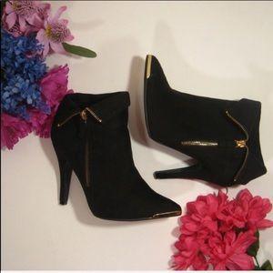 Torrid suede black ankle boots
